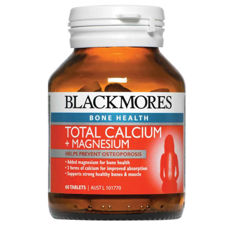 Blackmores Total Calcium + Magnesium 60 Tablets