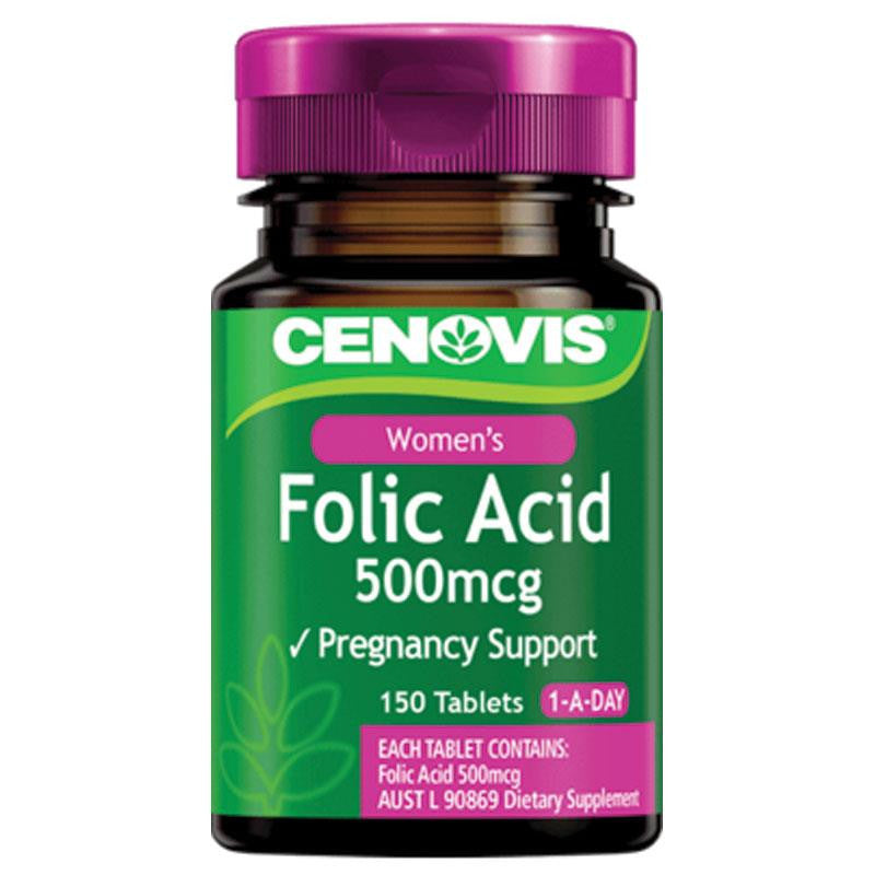 Cenovis Folic Acid 500mcg 150 Tablets