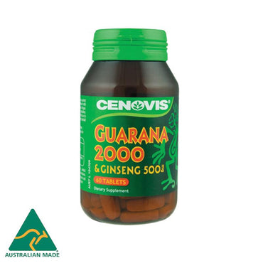 Cenovis Guarana 2000mg & Ginseng 500mg 60 Tablets