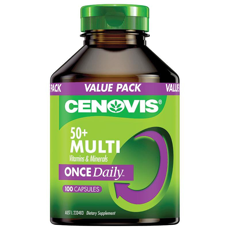 Cenovis Once Daily 50+ Multivitamin 100 Capsules