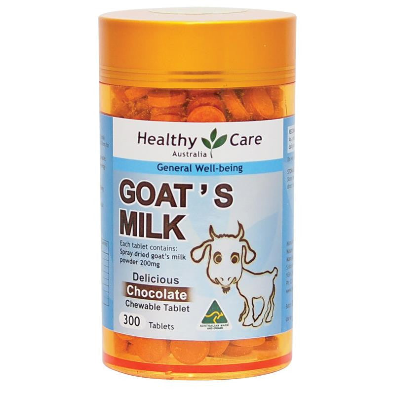 Healthy Care Goat Milk Chocolate Flavour 300 Chewable Tablets
