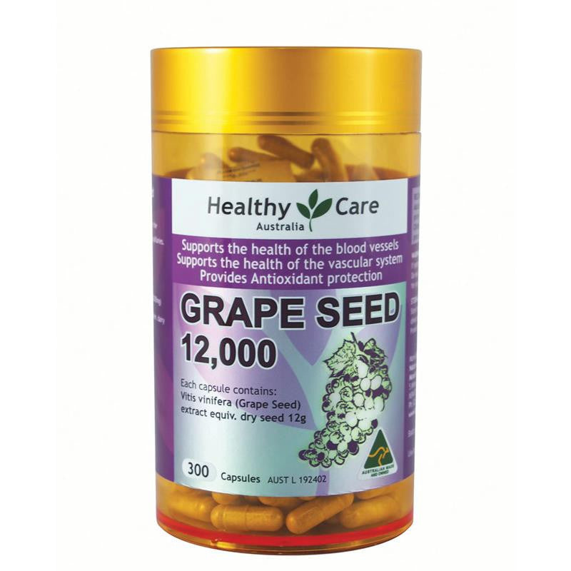 Healthy Care Grape Seed 12000mg Gold Jar 300 Capsules