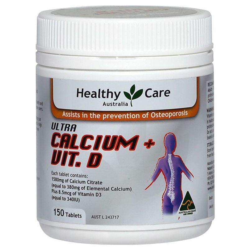 Healthy Care Ultra Calcium Plus Vitamin D 150 Tablets