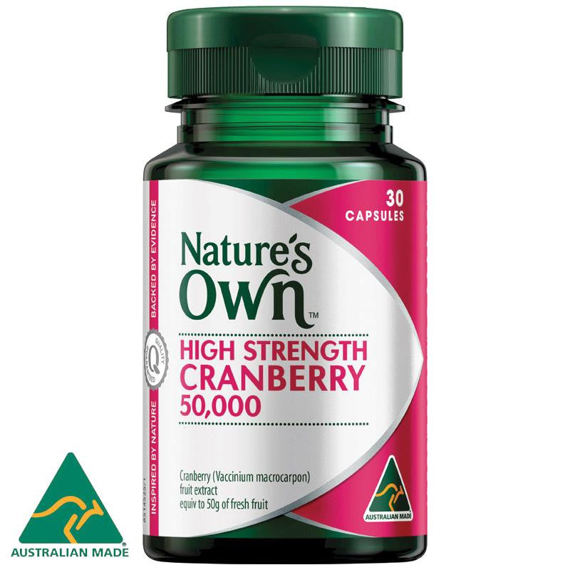 Nature's Own Cranberry 50000mg 30 Capsules