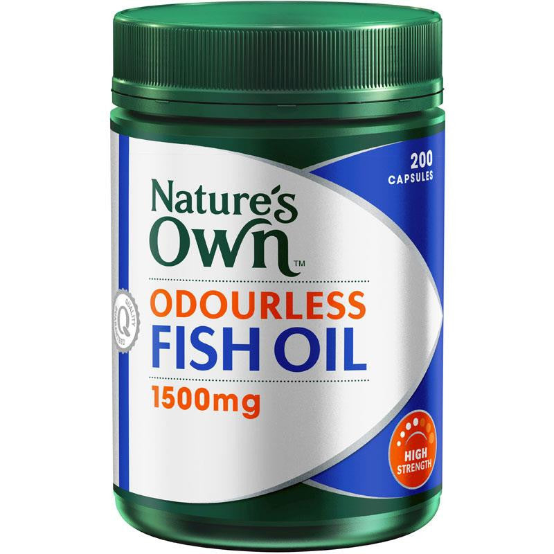 Nature's Own Odourless Fish Oil 1500mg 200 Capsules