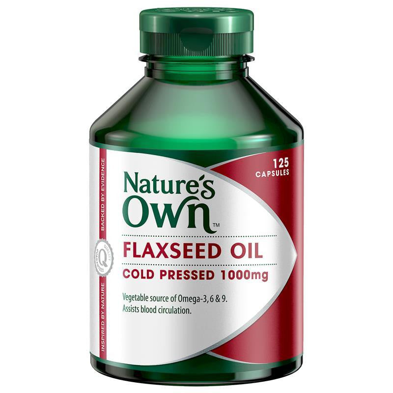 Nature's Own Flaxseed Oil 125 Capsules