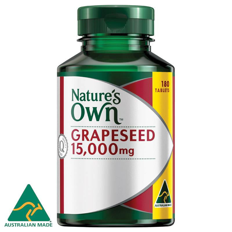 Nature's Own Grape Seed 15000mg 180 Tablets