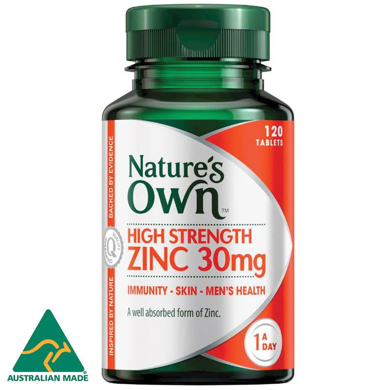 Nature's Own High Strength Zinc 30mg 120 Tablets