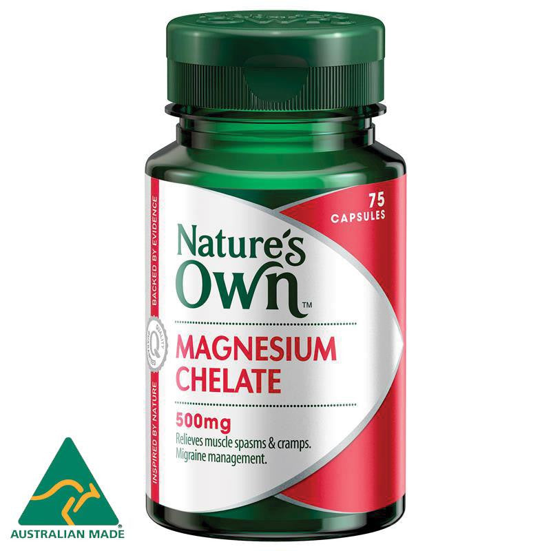 Nature's Own Magnesium Chelate 500mg 75 Capsules