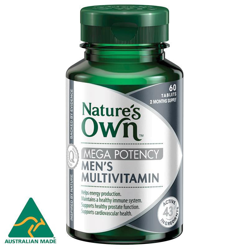 Nature's Own Men's Multivitamin Mega Potency 60 Tablets