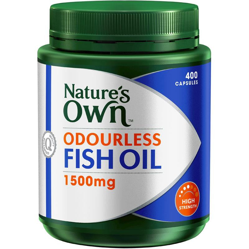 Nature's Own Odourless Fish Oil 1500mg 400 Capsules