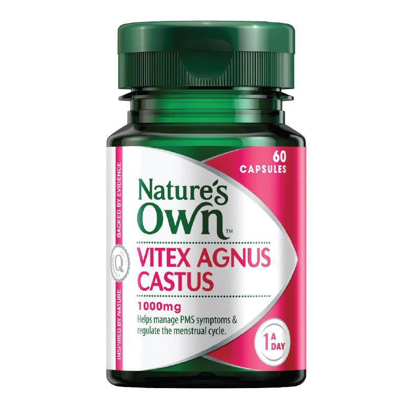Nature's Own Vitex Agnus Castus 1000mg 60 Capsules