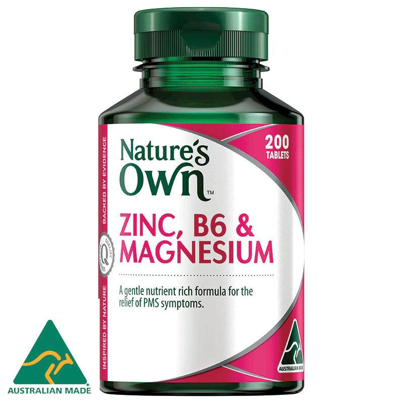 Nature's Own Zinc B6 & Magnesium 200 Tablets
