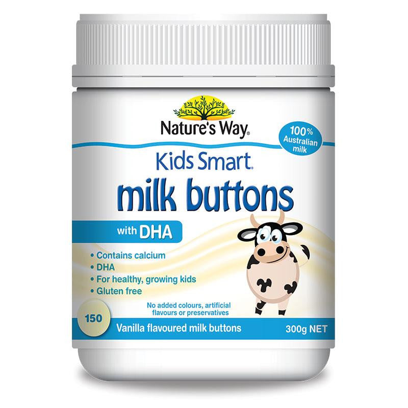 Nature's Way Kids Smart Milk Buttons with DHA Vanilla 300g