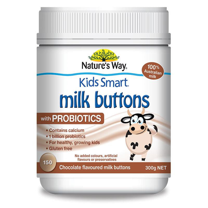Nature's Way Kids Smart Milk Buttons with Probiotics 300g