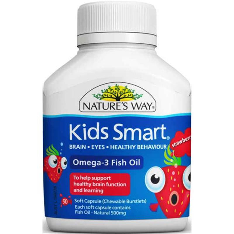 Nature's Way Kids Smart Omega 3 Fish Oil Strawberry 50 Capsules