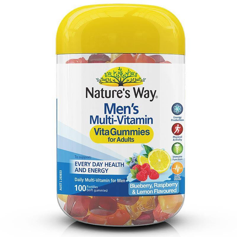 Nature's Way Vita Gummies Adult Mens Multivitamin 100 Pastilles