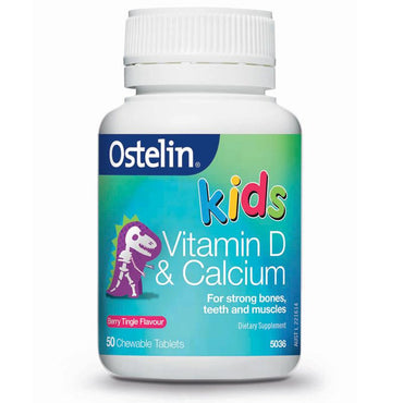 Ostelin Kids Vitamin D & Calcium 50 Chewable Tablets
