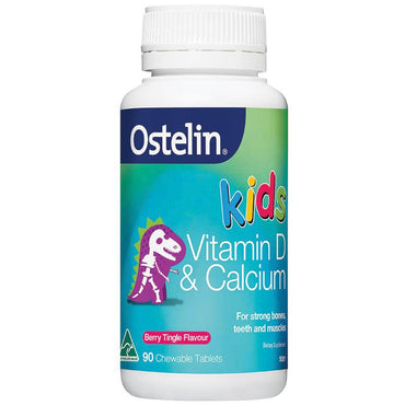 Ostelin Kids Vitamin D & Calcium 90 Chewable Tablets
