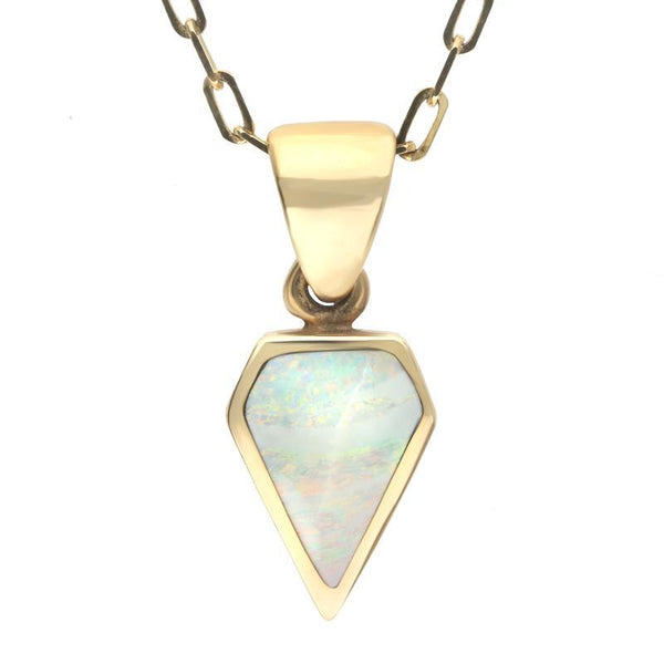 9ct Yellow Gold Opal Dinky Kite Necklace P455C