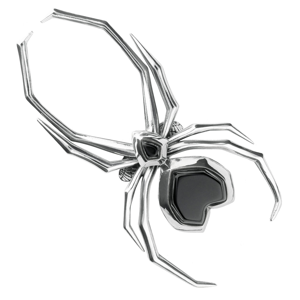 Silver Whitby Jet Large Spider R726