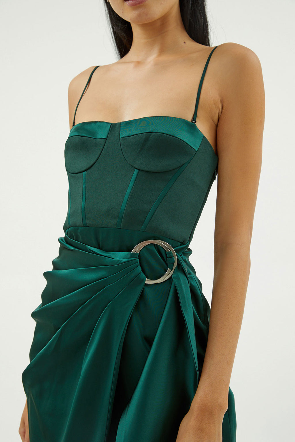 Satin Bustier Dress