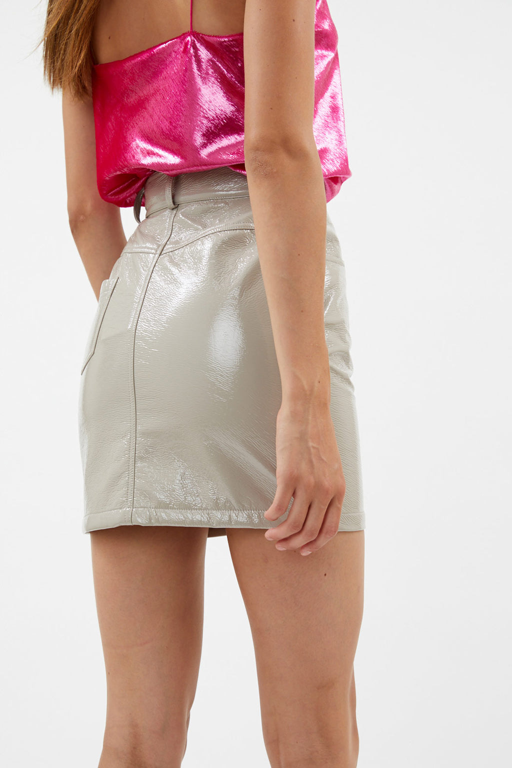 Patent Mini Skirt