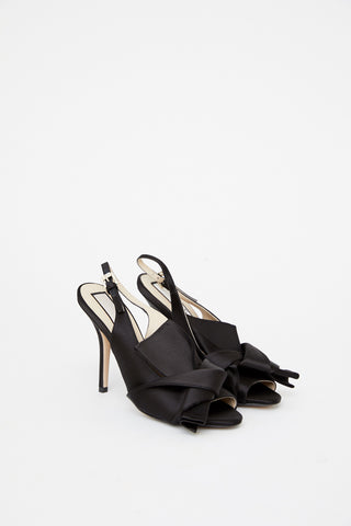 Sling back Satin Mules