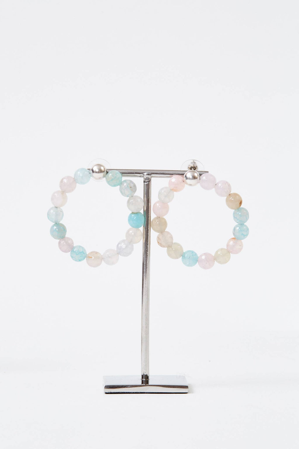 Candy Silver Hoops