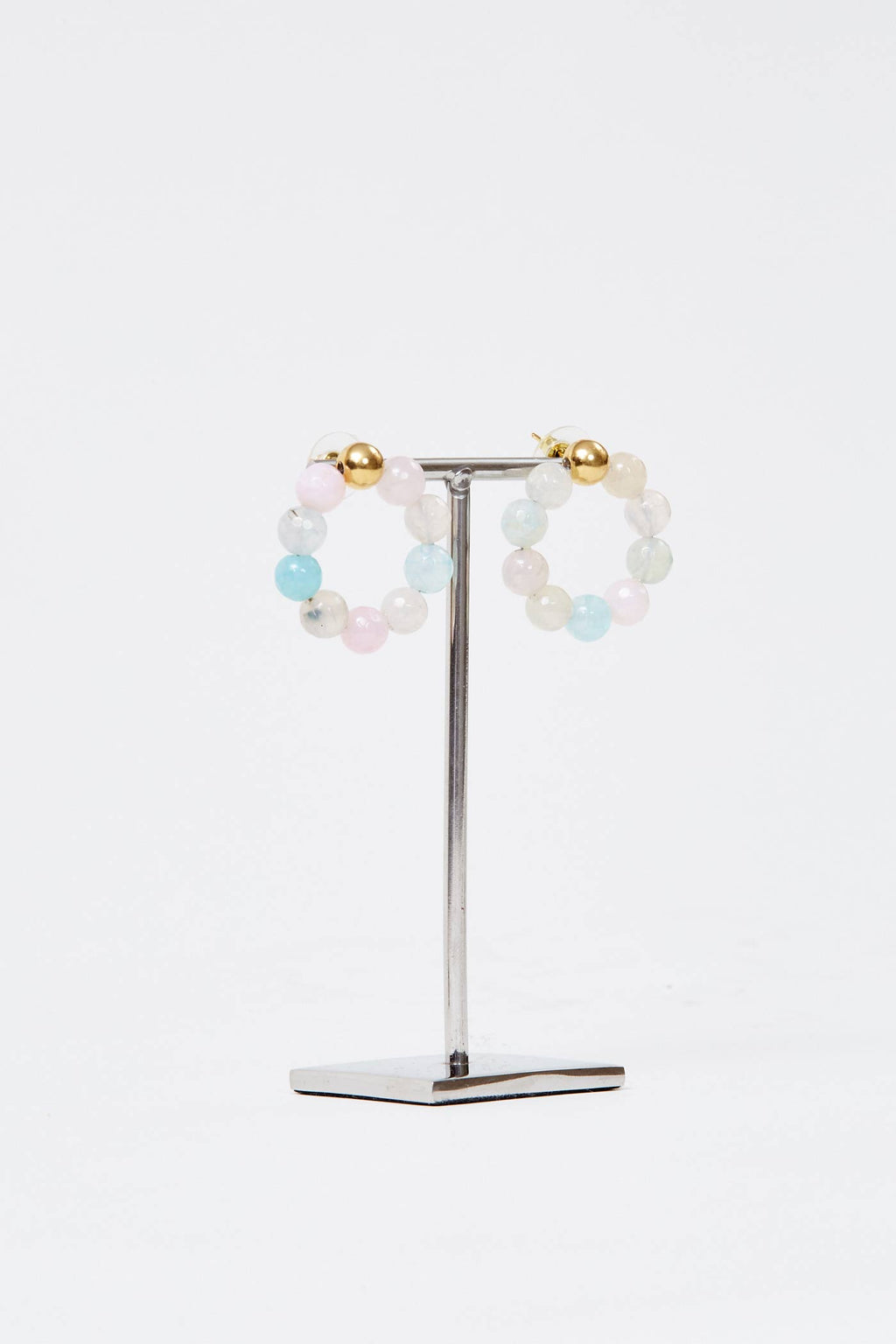 Candy Agate Hoops