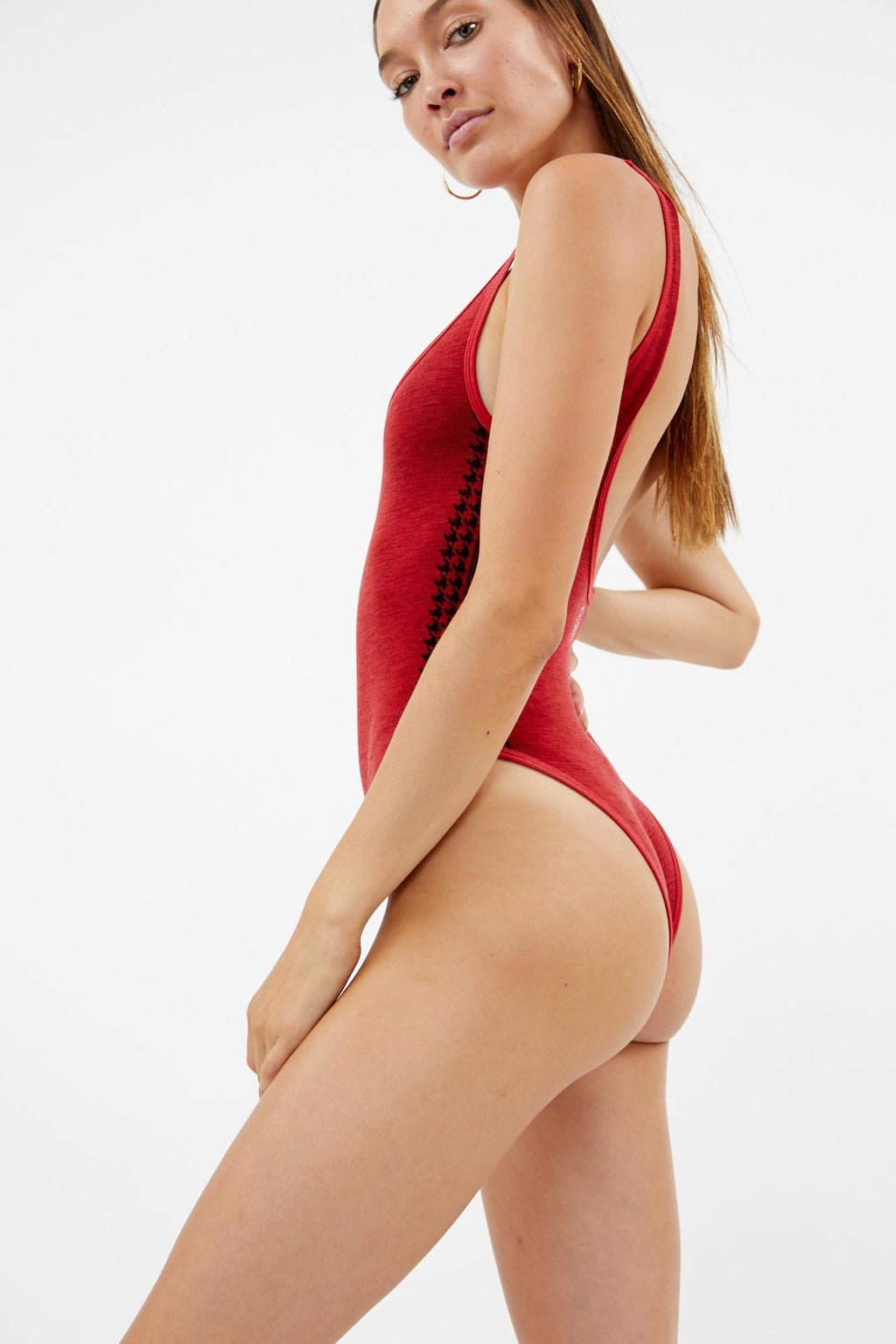 Merino Red Leotard