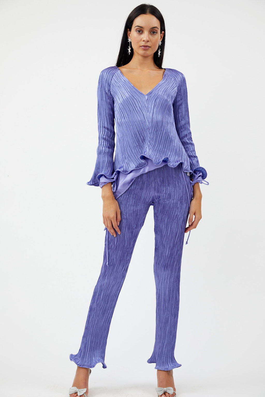 Freida Crinkled Lavender Top