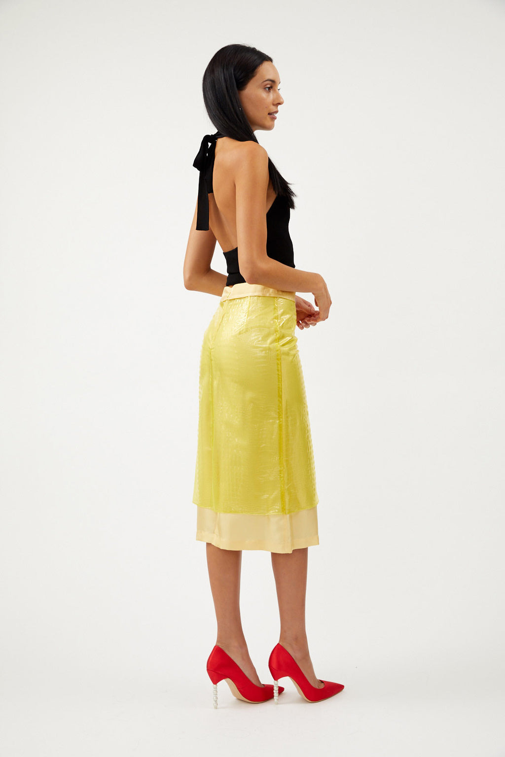 Sula Embossed Plastic Skirt