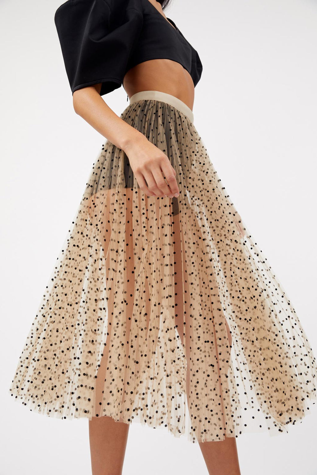 Elisabetta Black Spot Skirt