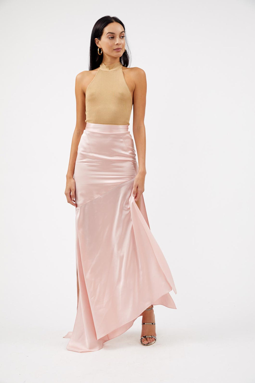 Imperial Pink Silk Maxi