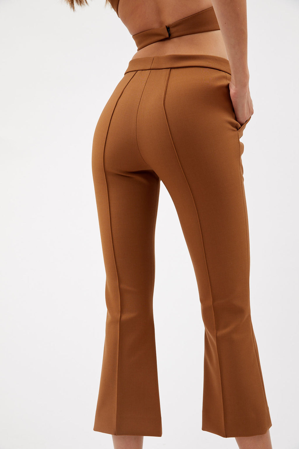 Caramel Flare Trousers