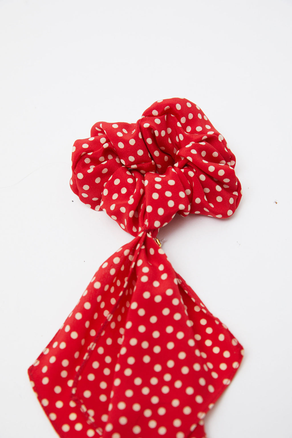 Silk Polka Dot Scunchie