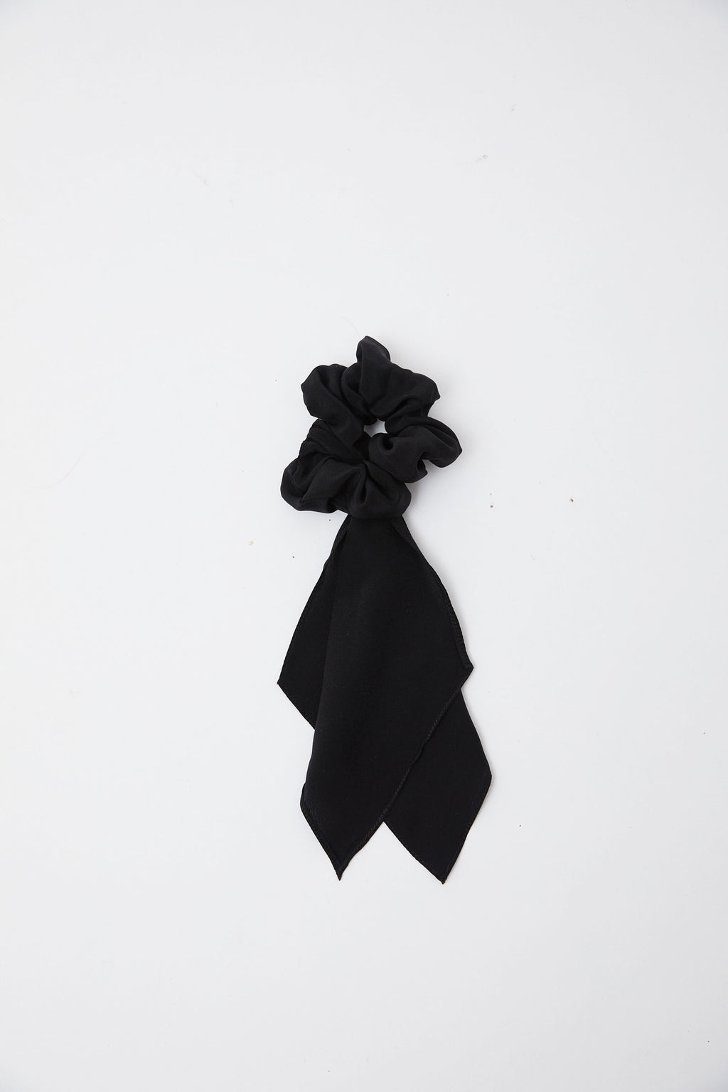 Silk Black Tie Scunchie