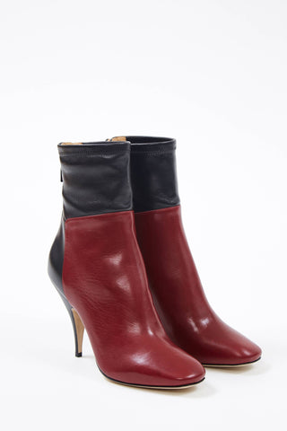 Wine Ankle Boots