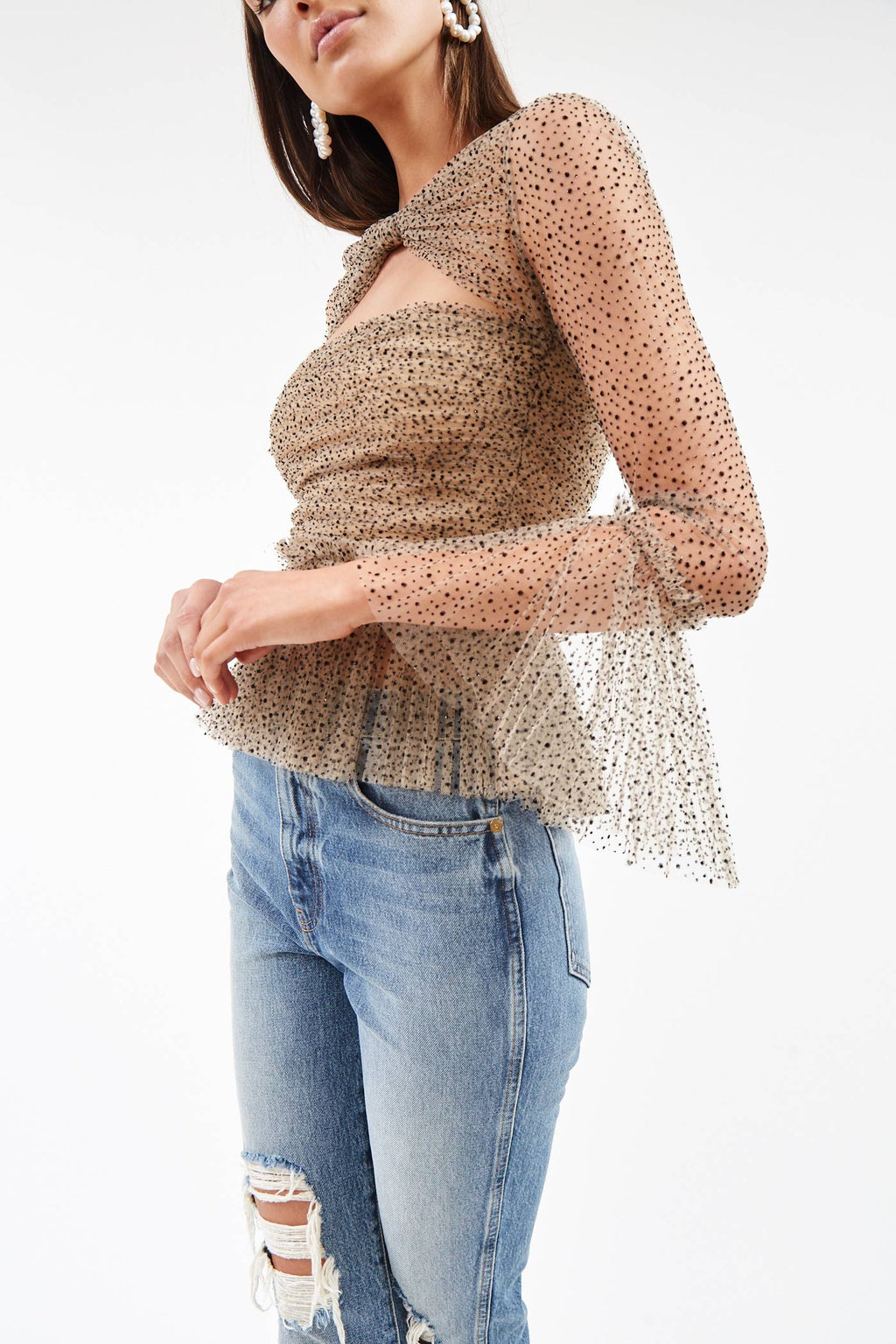 Joey Nude Sparkle Top