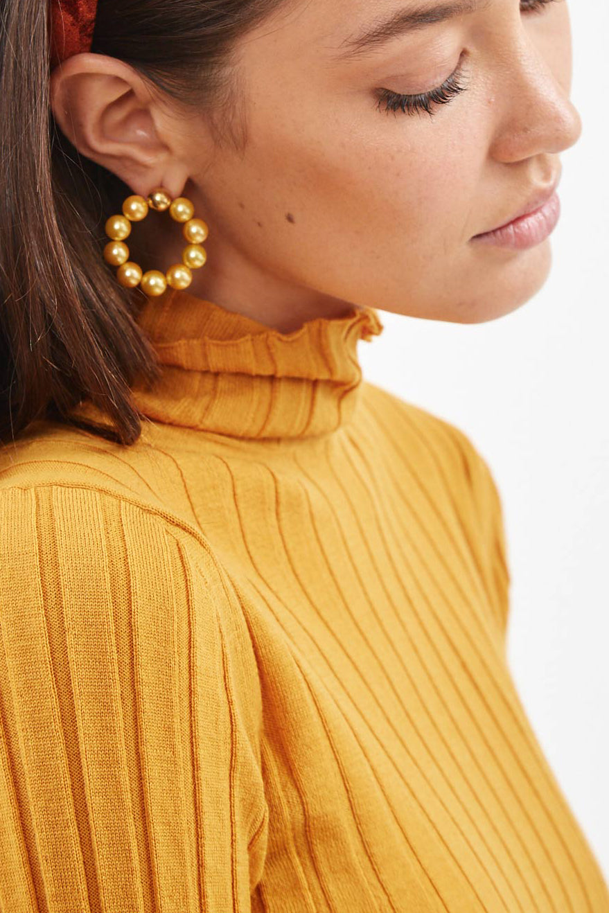 Gold Natural Hoops