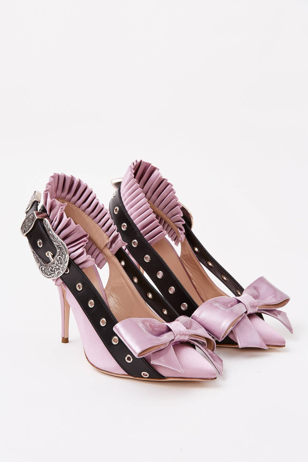 Lilac Bow Buckle Pumps