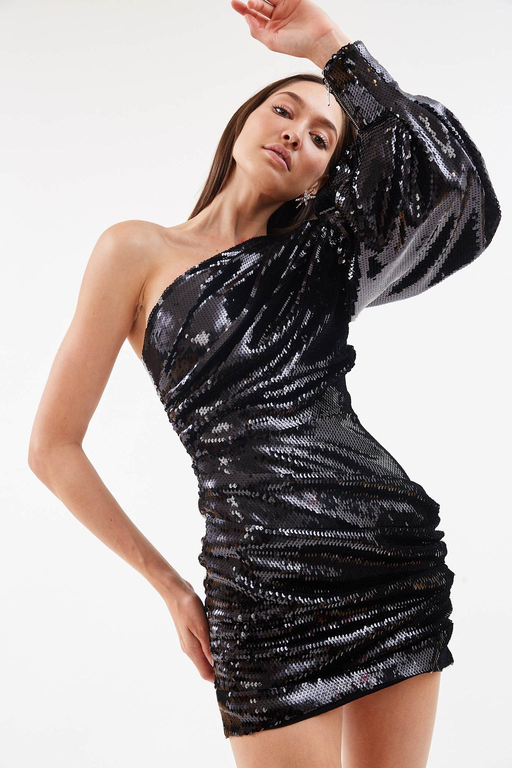 Jackson Sequin Black Mini Dress
