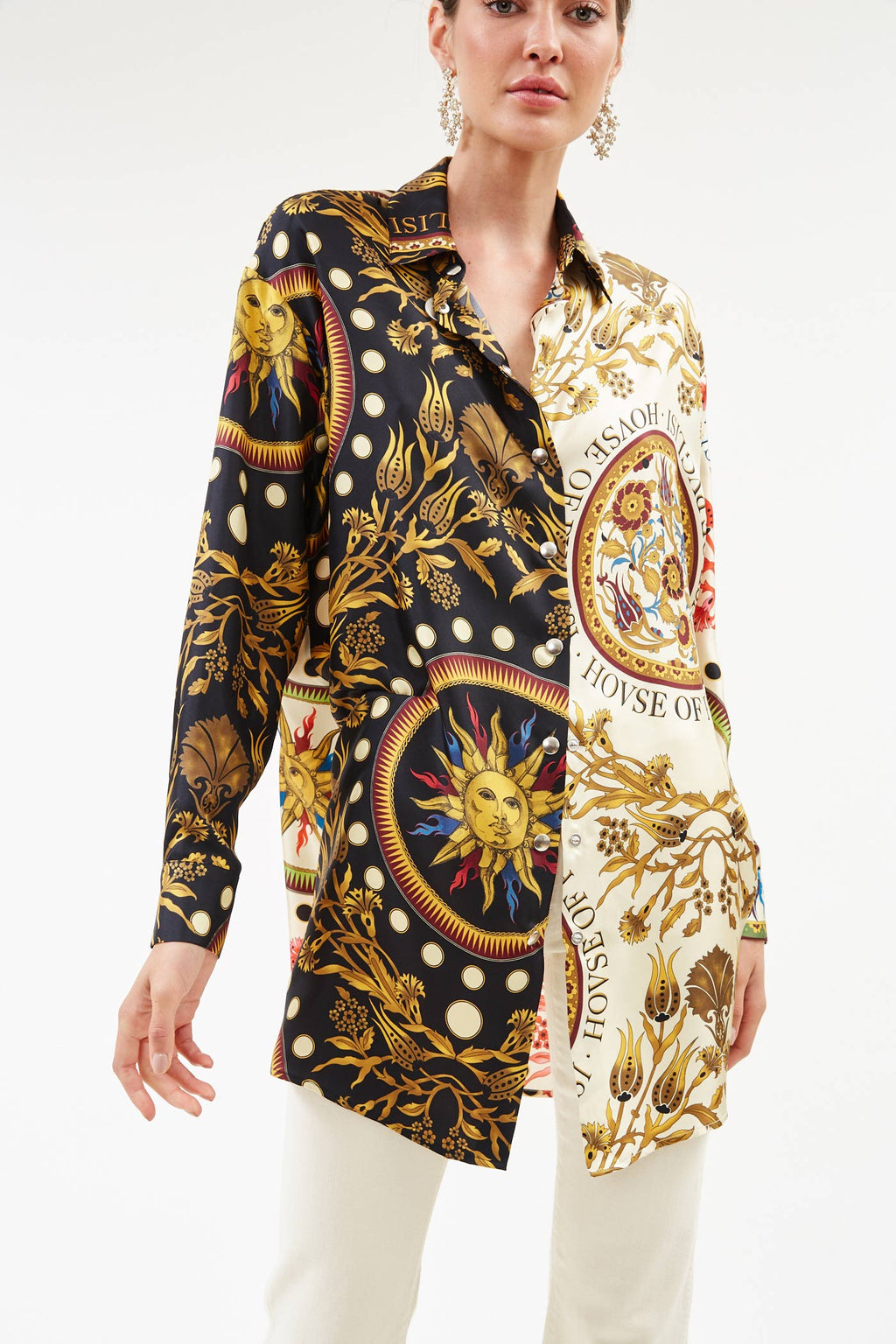Gold Sun Unisex Silk Shirt