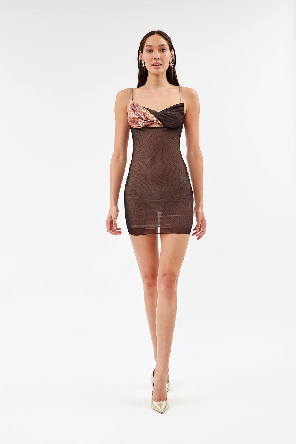Titania Mahogany Mini Dress