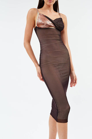 Titania Mahogany Midi Dress