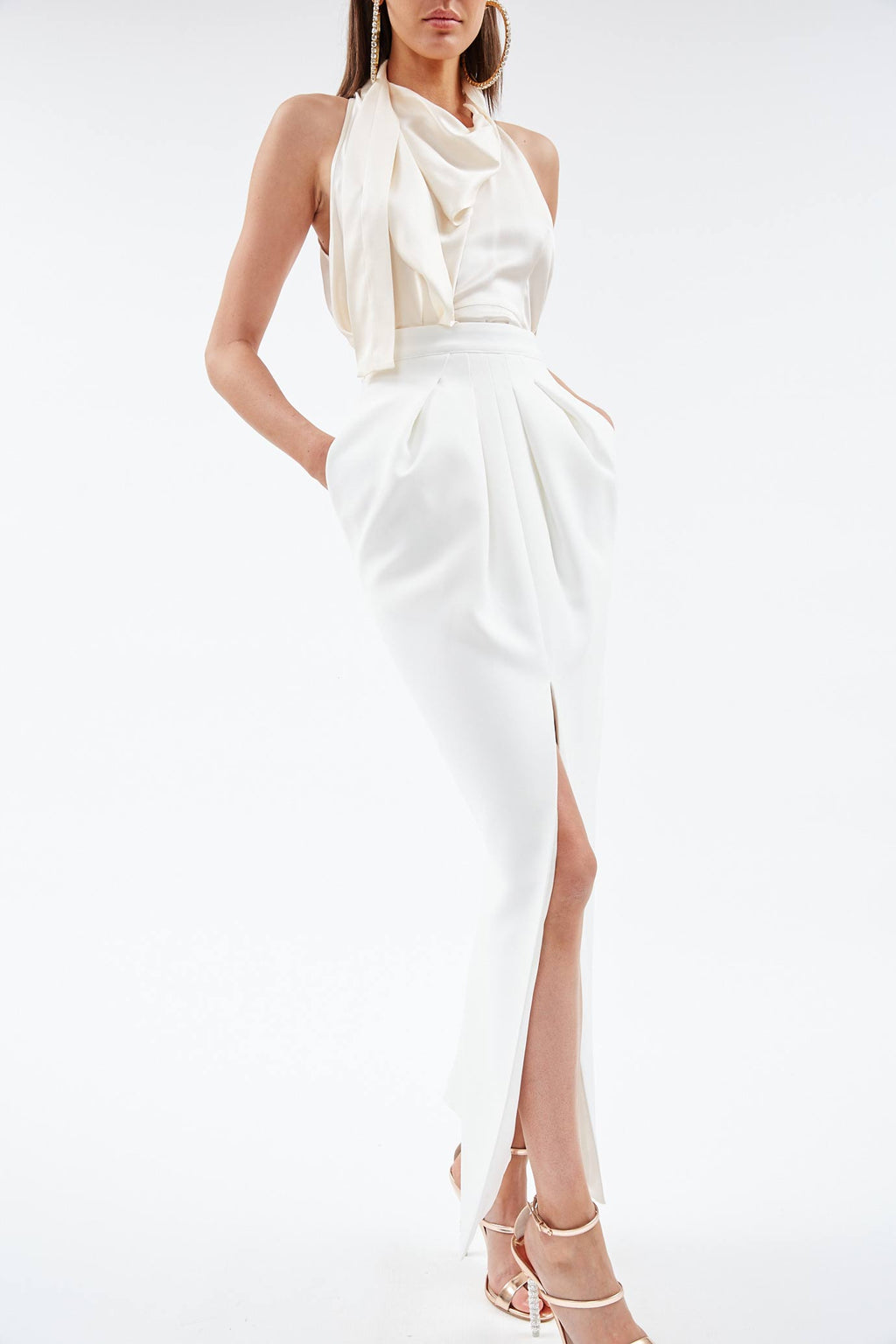 Ensemble White Skirt