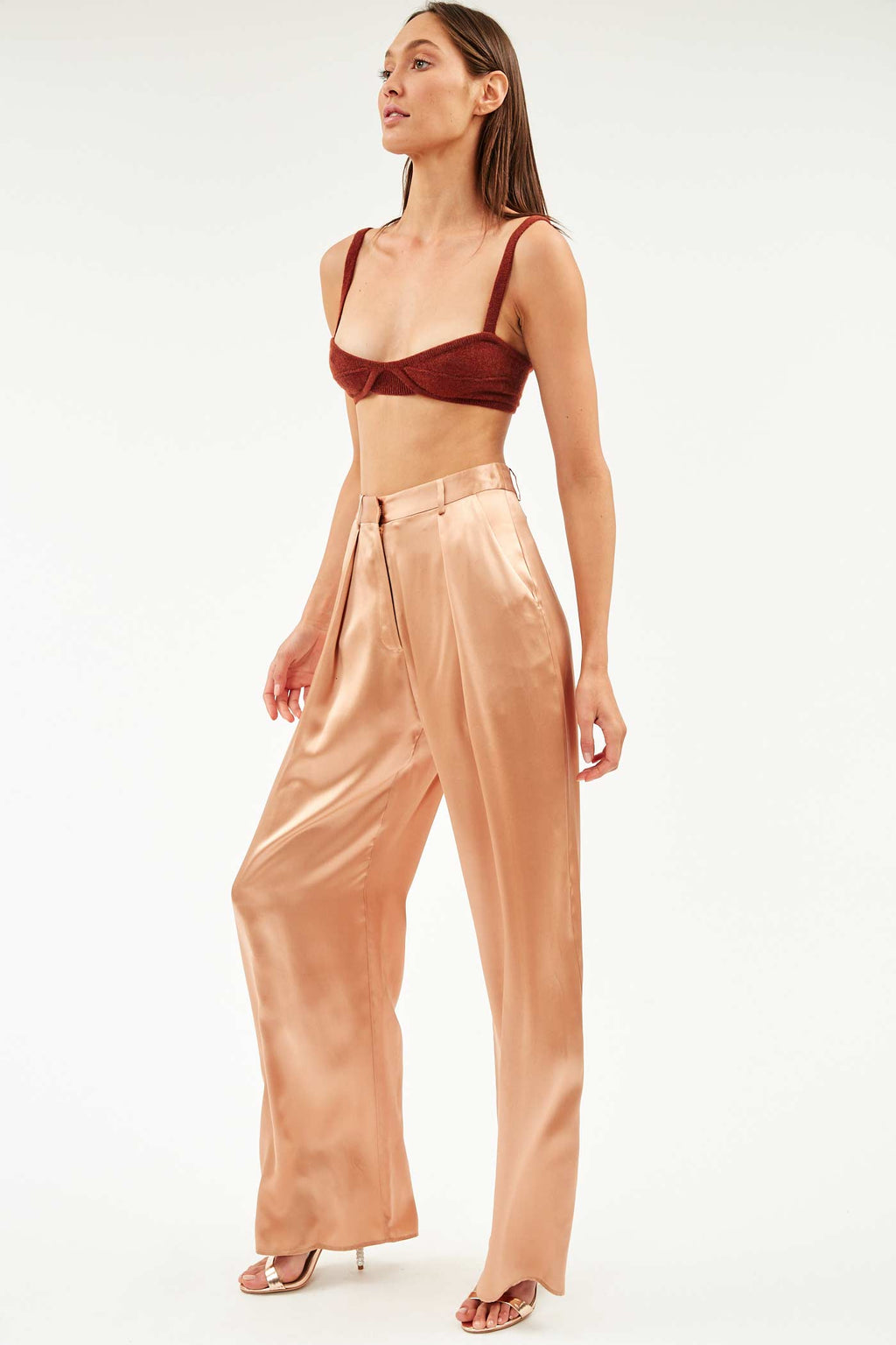 Nude Silk Boy Pant