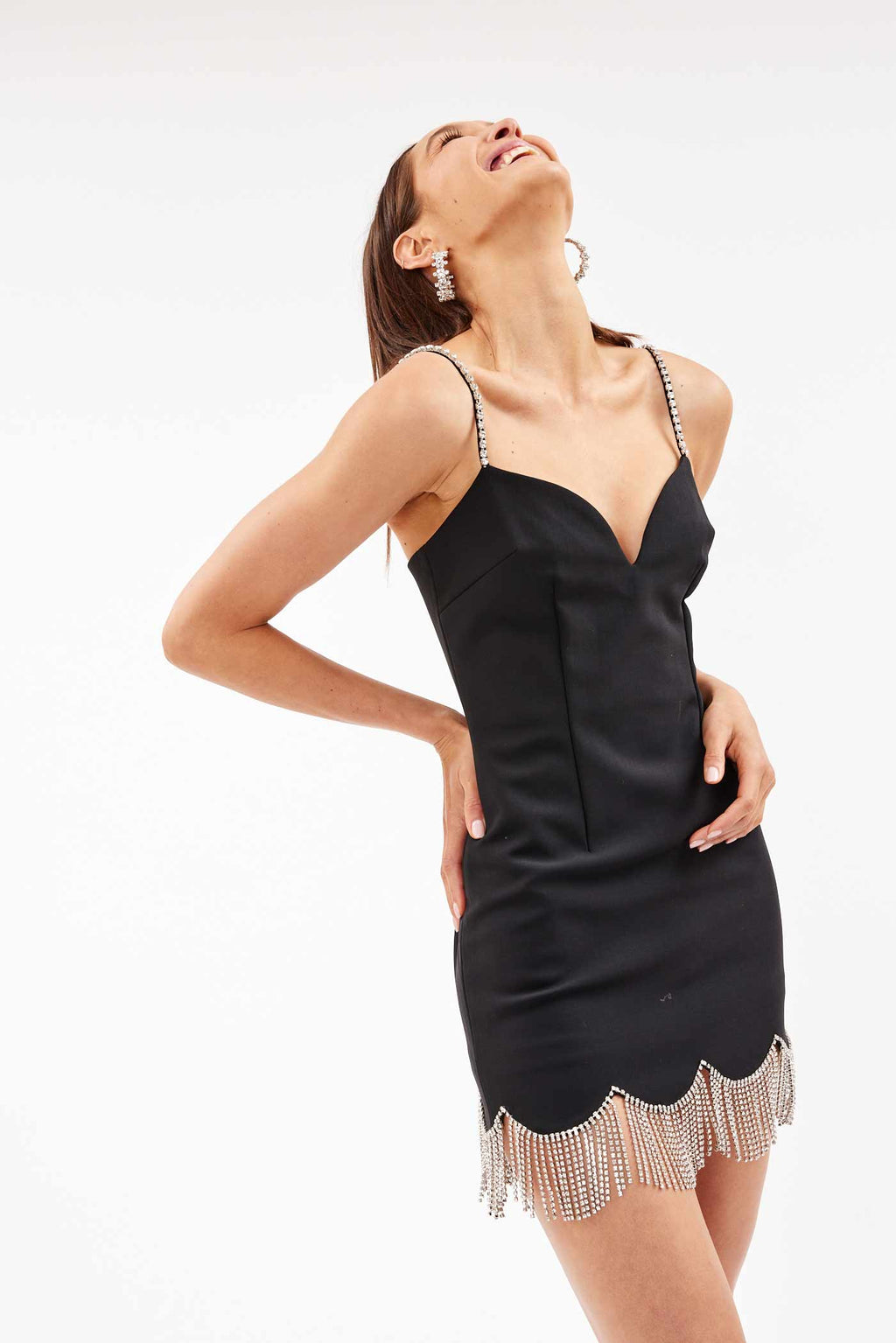Chandelier Black Mini Dress