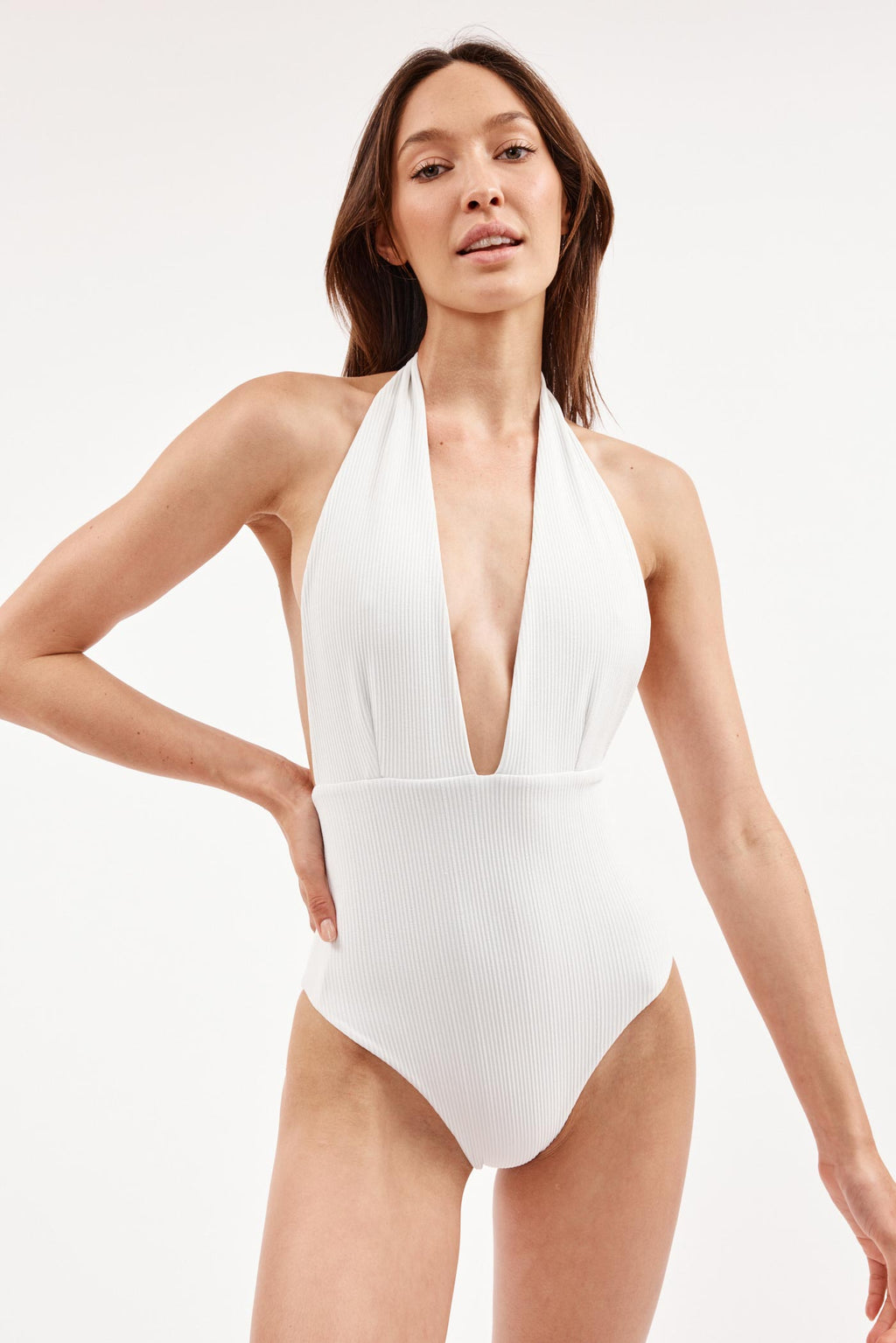 Thalassa White Halter Swimsuit